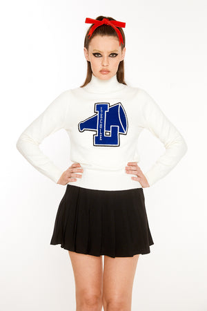 Cheerleader Sweater (Blue Logo)