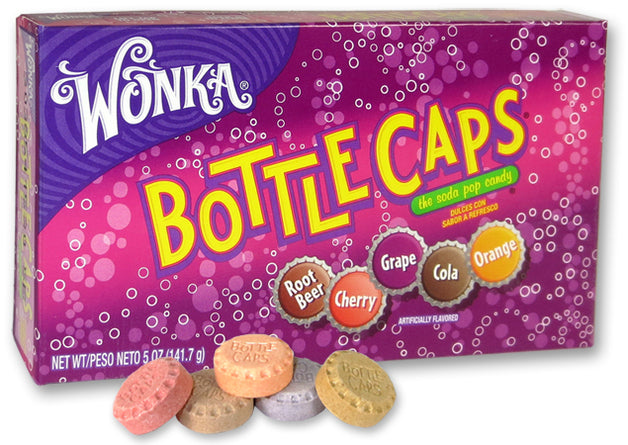 THEATRE BOX WONKA BOTTLE CAPS