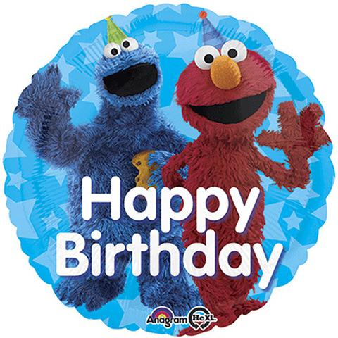 Cookie Monster and Elmo Birthday Balloon