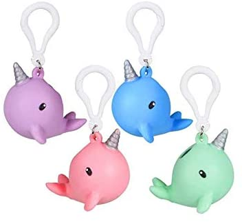 Narwhal Squeeze Keychain