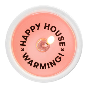 Message Candle - Happy House Warming