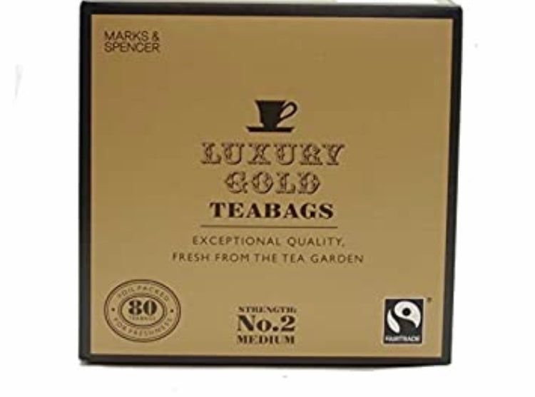 Marks and Spencer Luxury Gold Teabags