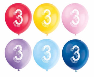 Numbered Latex Balloons