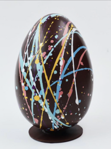 Handmade Chocolate Easter Egg -Splattered (Vegan)