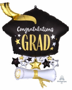 Congratulations Grad Gold Cap Bouquet
