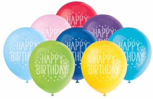 Printed Latex Birthday Balloons