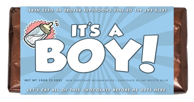 ITS A BOY CHOCOLATE BAR