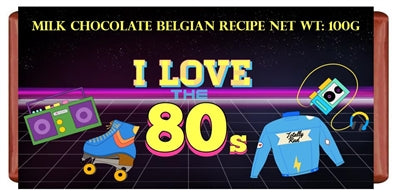 I LOVE THE 80'S CHOCOLATE BAR