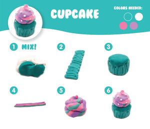 AIR DOUGH SMALL CUPCAKE