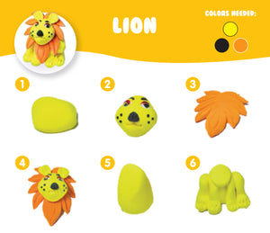 AIR DOUGH SMALL LION