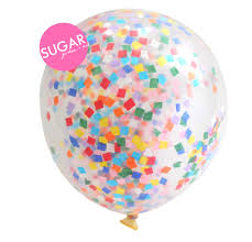 Sugargirlee - Birthday Cake Sugarfetti Balloon
