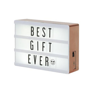 Cinematic Marquee Lightbox: Mini Rose Gold