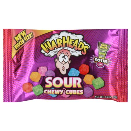 WARHEADS SOUR CHEWY CUBE POUCH