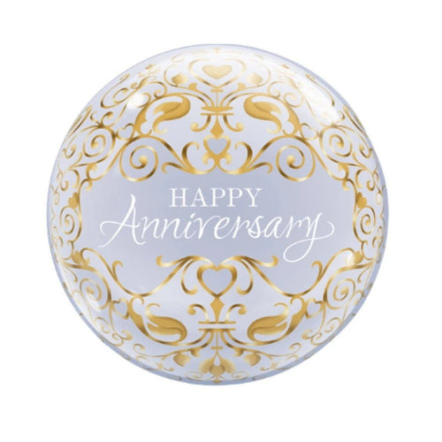 Gold Happy Anniversary Balloon
