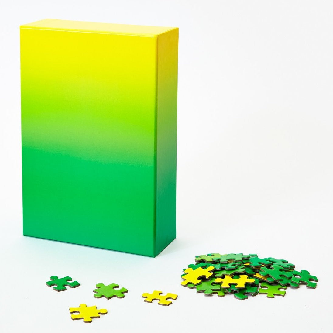 (100 pcs) Gradient Puzzle - Green to Yellow
