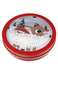 Holiday Snow Globe Filled with Sweet Candy Cane Candies