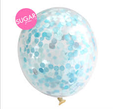 Sugargirlee - Oh So Blue Sugarfetti Balloon