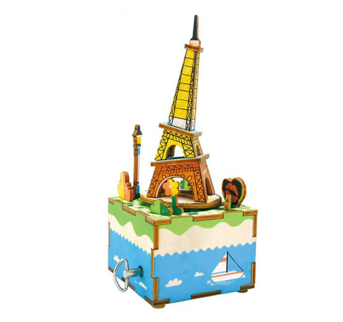 DIY Wooden Music Box - Romantic Eiffel