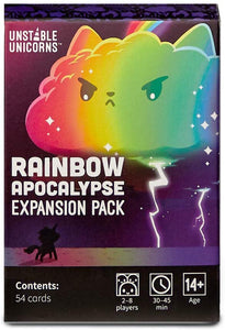 Unstable Unicorns: Rainbow Apocalypse Expansion Game Sweet Thrills Toronto