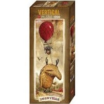 (1000 pcs) Red Balloon Vertical Puzzle
