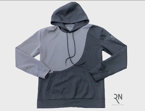 Grey and Gunmetal Hoodie