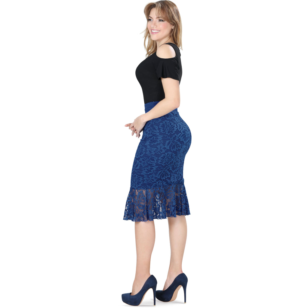 Danesi - Skirts - 7505 - Floral Lace Skirt
