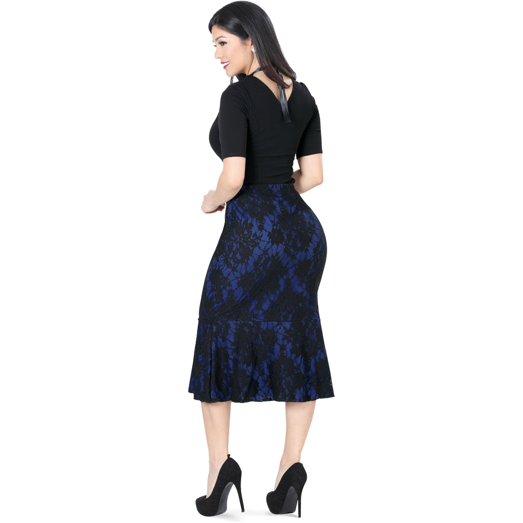 Danesi - Skirts - 7547 - Floral Lace Skirt