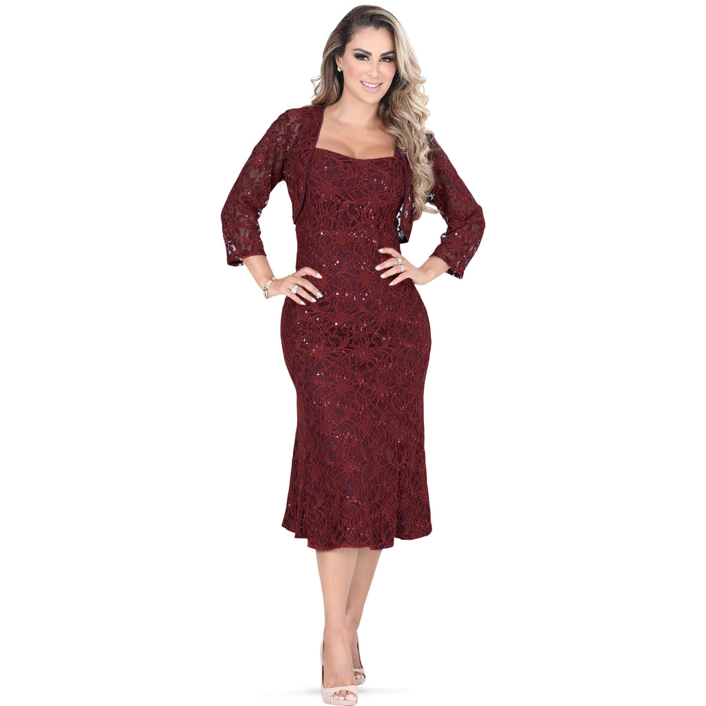 Danesi - Dresses - 7578 - Formal Dress with Jacket
