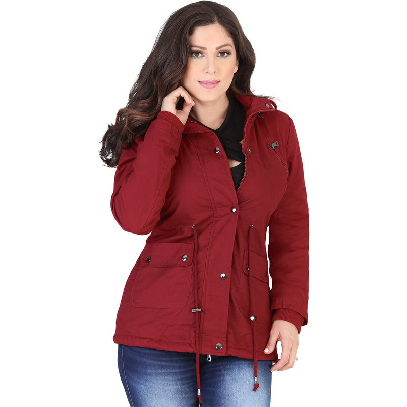 Lamasini - Jackets - 1096 - Utility Jacket with Removable Hood