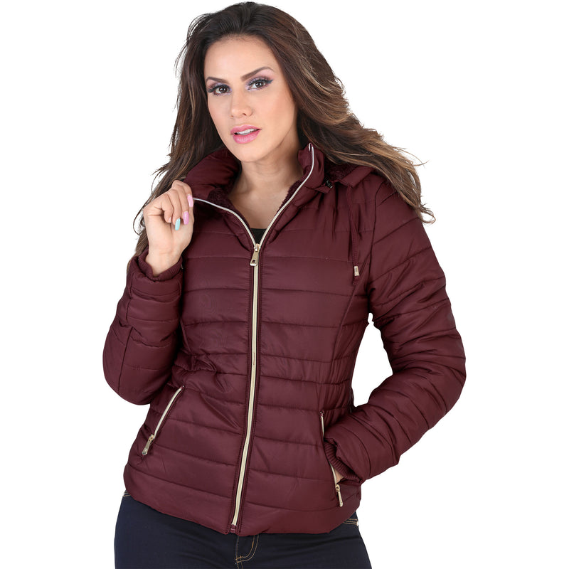 Lamasini - Jackets - 1098 - Puffer Jacket with Removable Hood