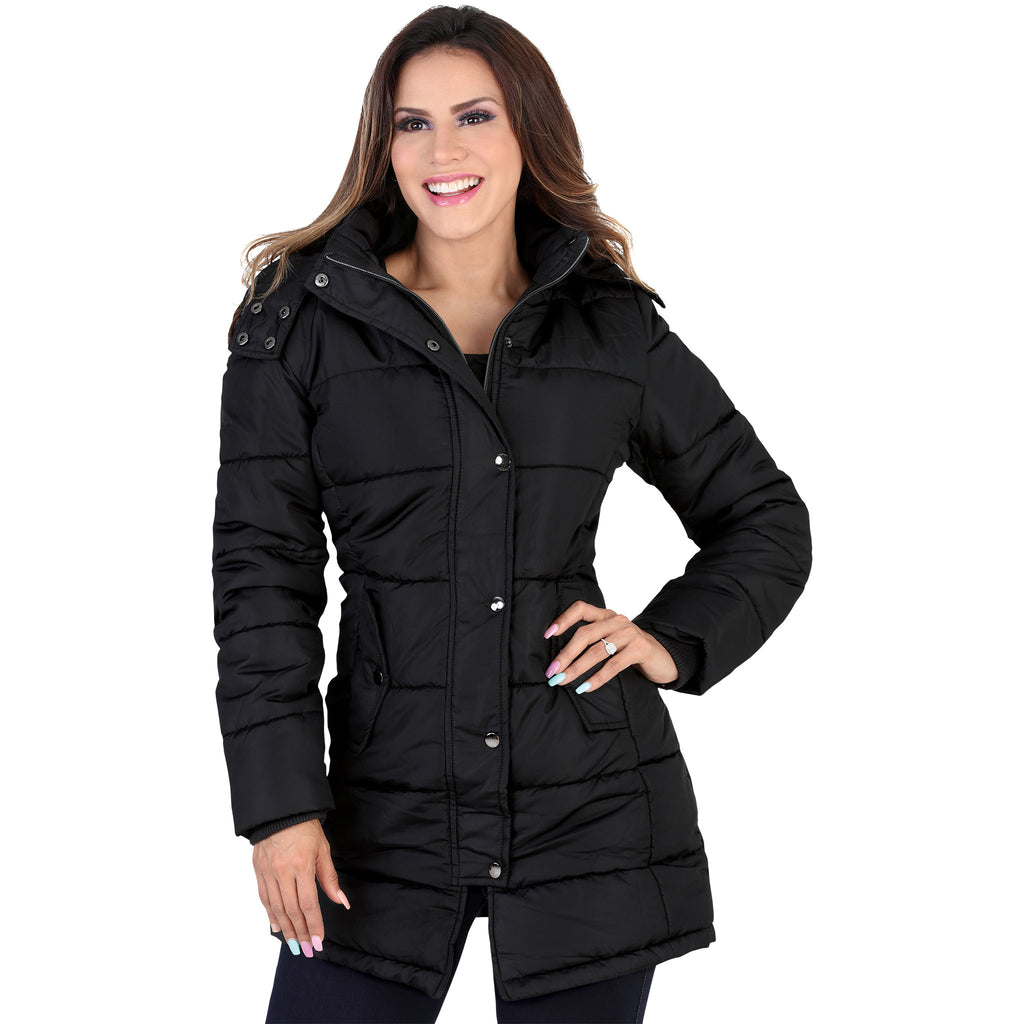 Lamasini - Jackets - 1109 - Puffer Jacket with Removable Hood