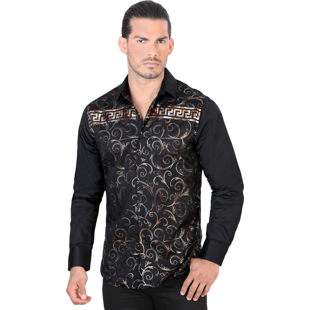 Lamasini - Mens Shirts - 1478 - Meander Long Sleeve Shirt