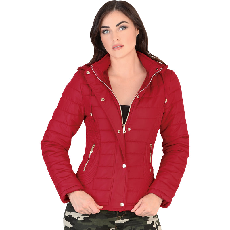 Danesi - Jackets - 4023 - Quilted Jacket with Removable Hood