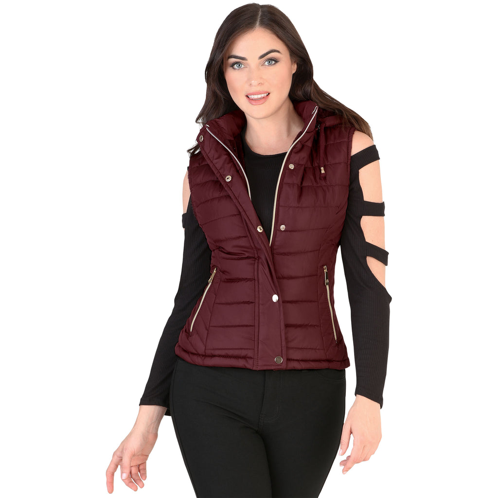 Danesi - Vest - 4024 - Quilted Vest with Removable Hood