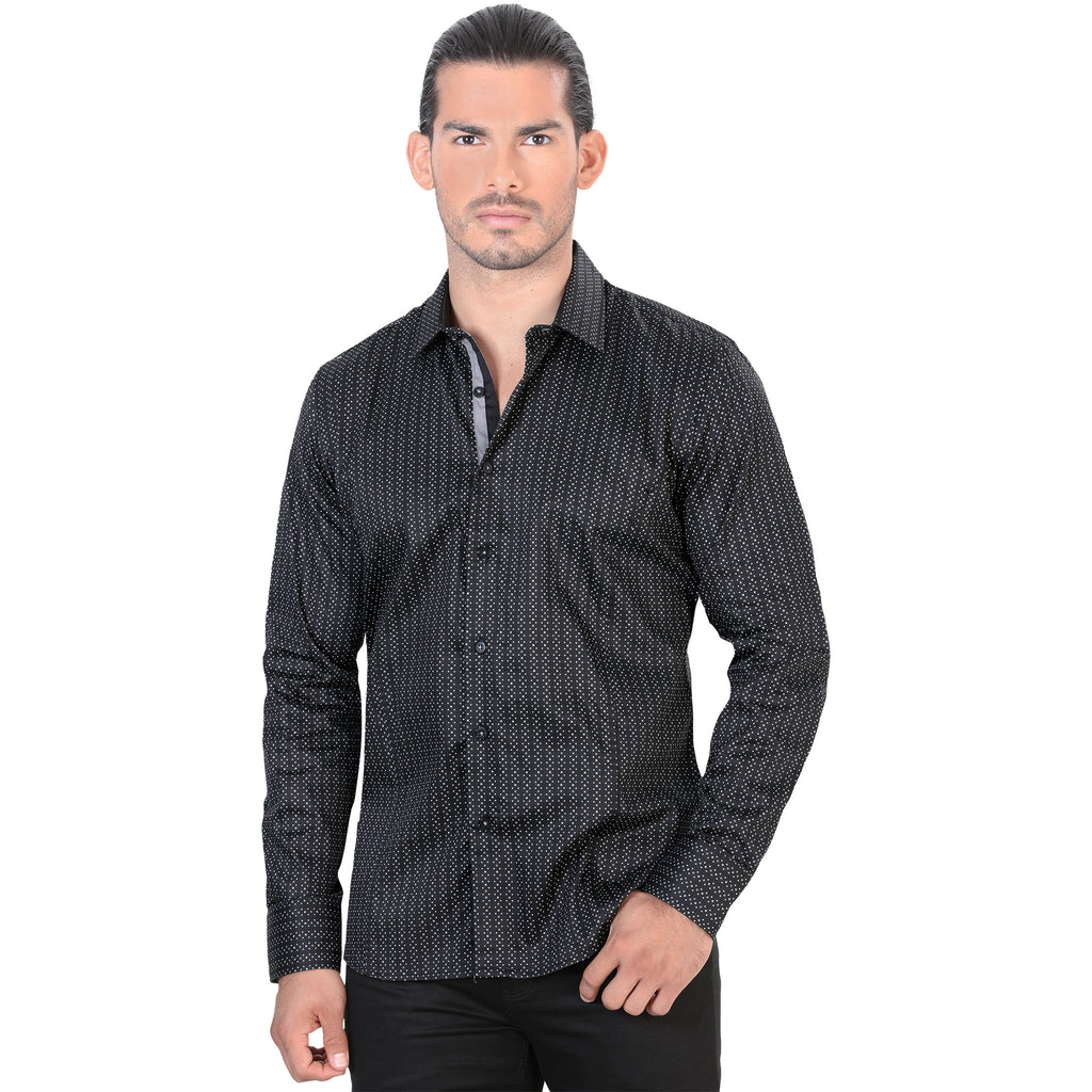Lamasini - Mens Shirts - 4320 - Slim Fit Long Sleeve Shirt