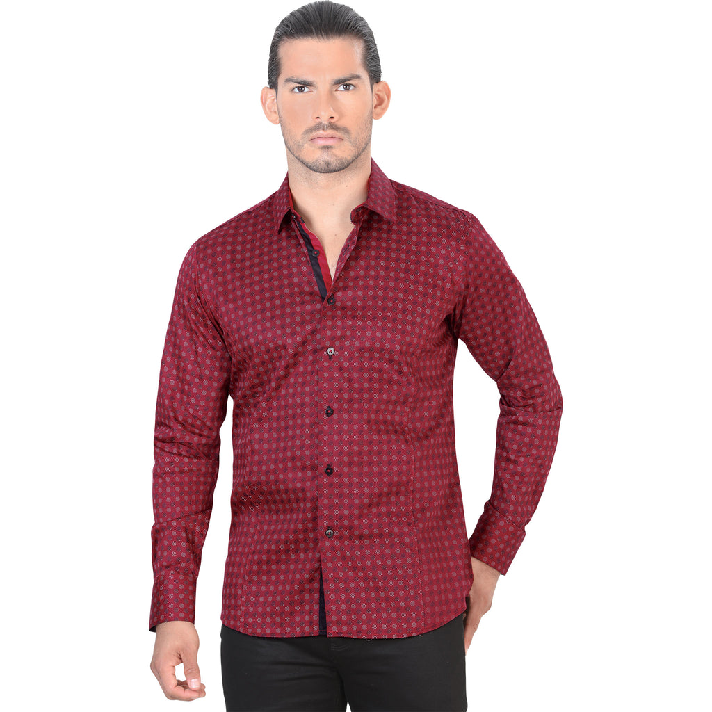 Lamasini - Mens Shirts - 4324 - Slim Fit Long Sleeve Shirt