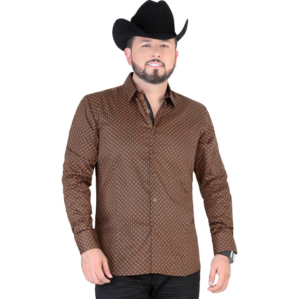 Lamasini - Mens Shirts - 4326 - Slim Fit Long Sleeve Shirt