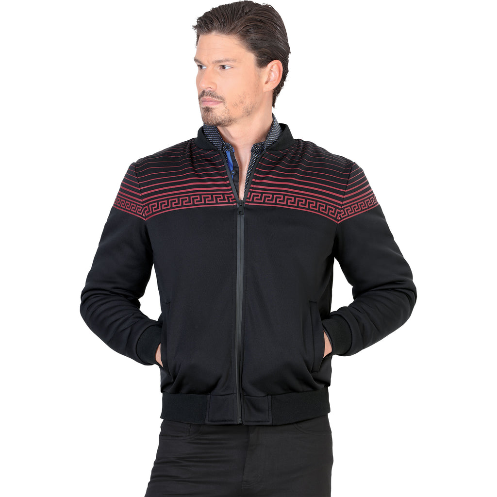 Lamasini - Mens Jackets - 549 - Jacket with Meander Design