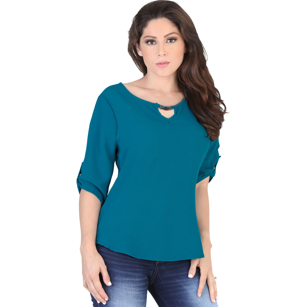 Lamasini - Tops - 5568 - Scoop Neck Top