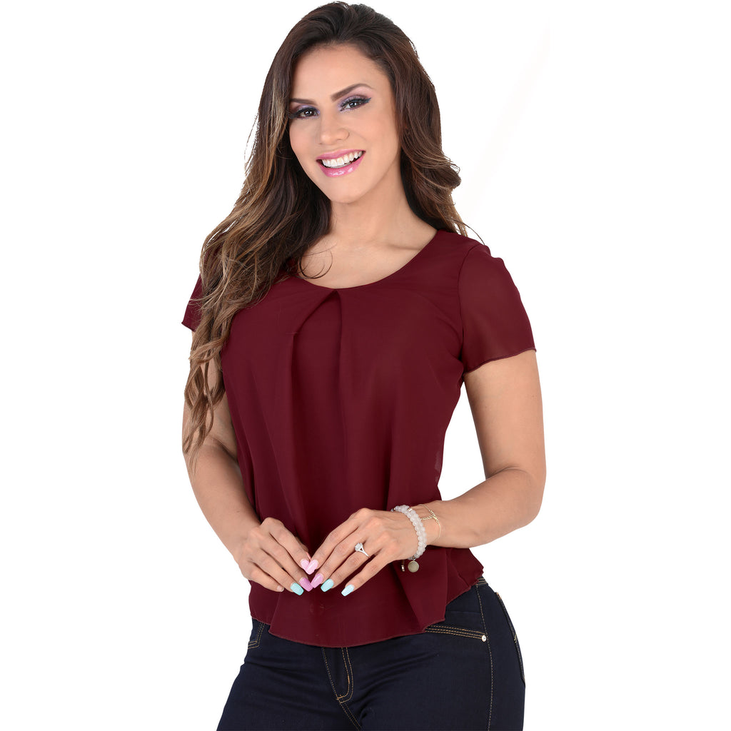 Lamasini - Tops - 6293 - Scoop Neck Top