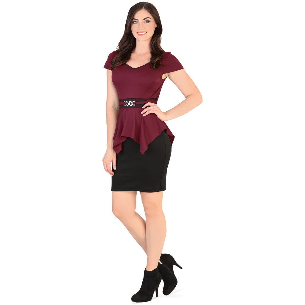 Danesi - Dresses - 7647 - Short Sleeve Mini Dress