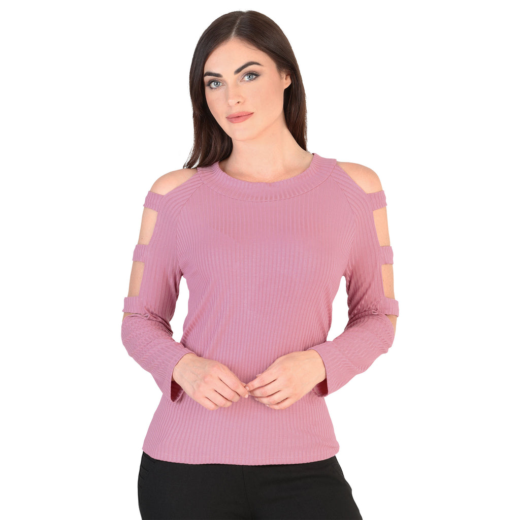 Danesi - Tops - 7653 - Cut-Out Long Sleeve Top