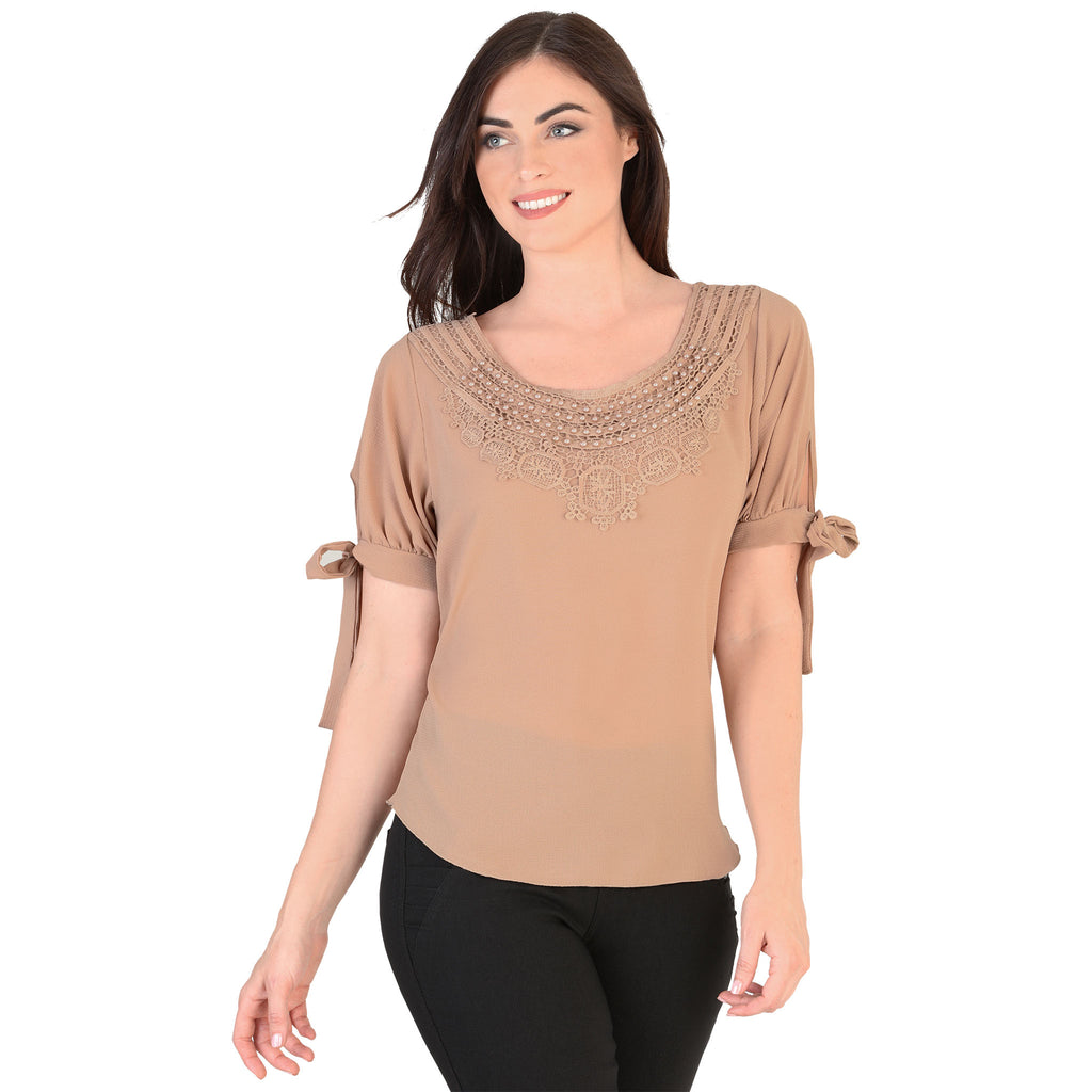 Danesi - Tops - 7658 - Short Sleeve Scoop Neck Top