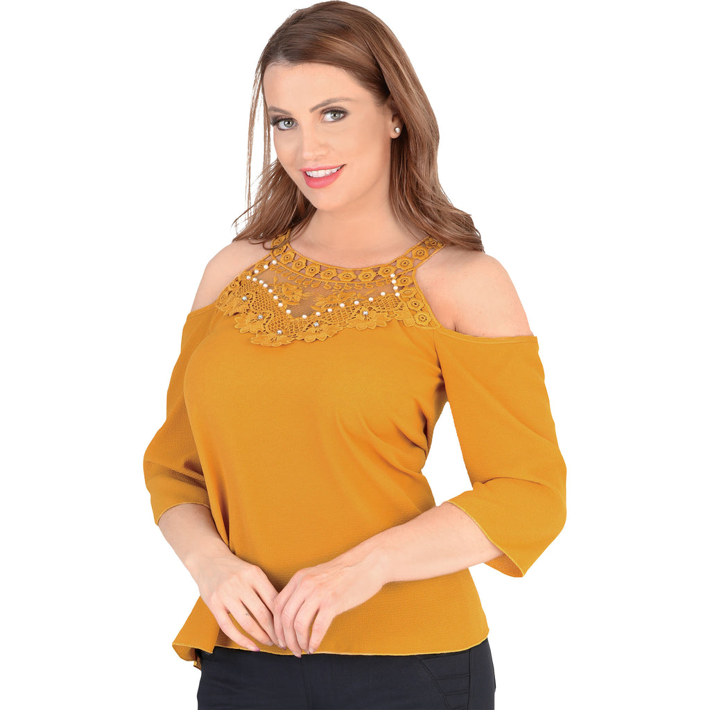 Danesi - Tops - 7661 - Cold Shoulder Top