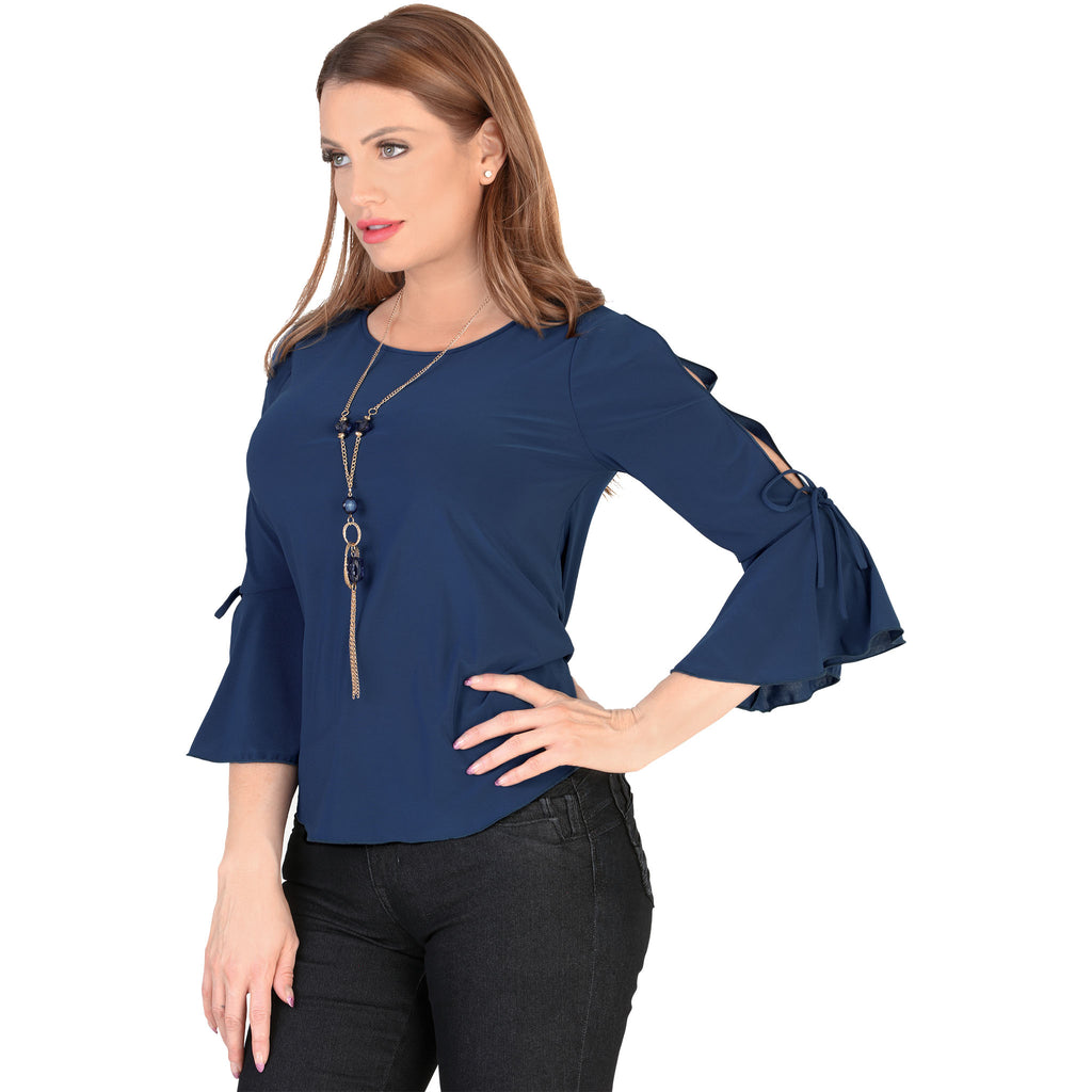 Danesi - Tops - 7662 - Flared Sleeve Top