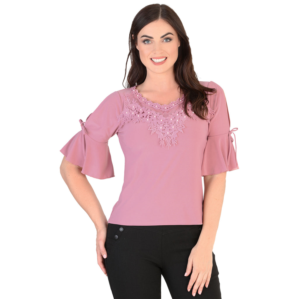 Danesi - Tops - 9344 - Flared Sleeve Top