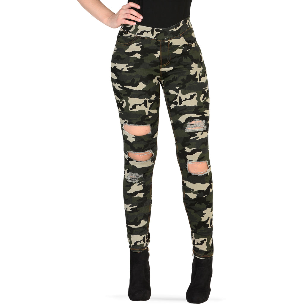Danesi - Jeans - JV3962 - Distressed Camo Stretch Pants
