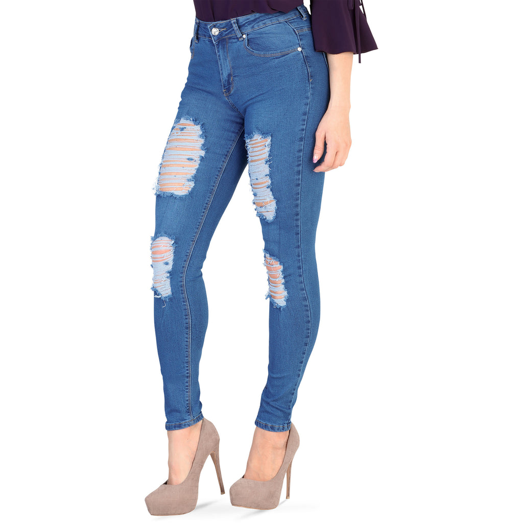 Danesi - Jeans - K442 - Distressed Stretch Denim Jeans