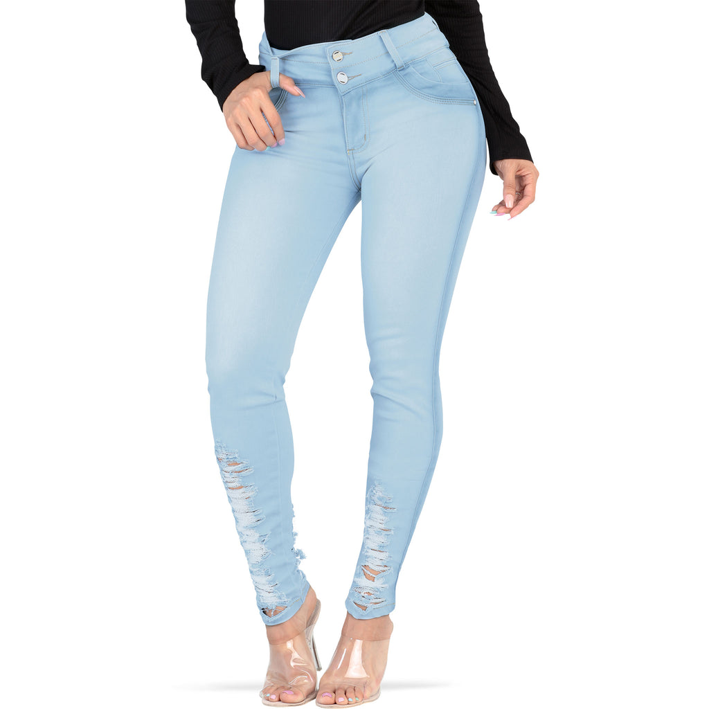 Lamasini - Jeans - LP72 - Distressed Colombian Jeans