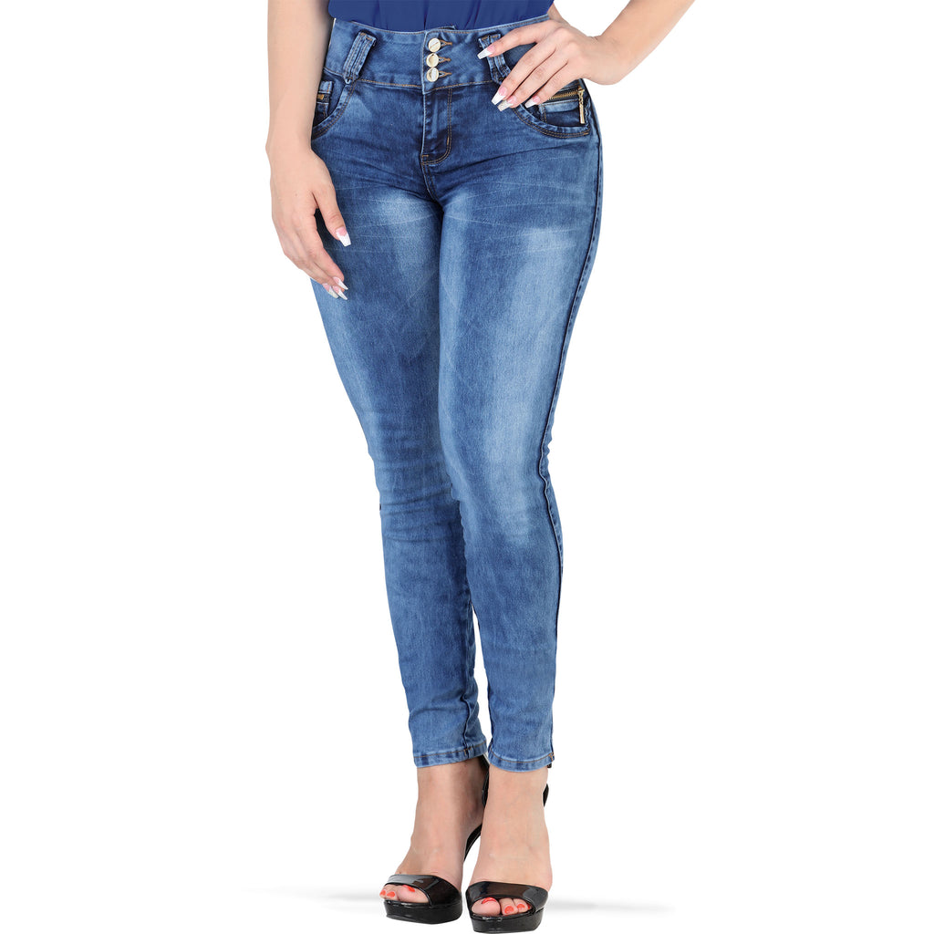 Mitzi Michel - Jeans - N3403 - Washed Stretch Denim Jeans